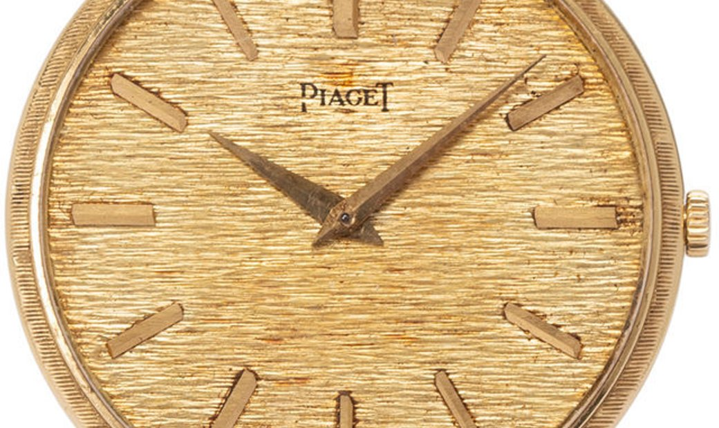 Piaget Vintage Manual Winding , Baton, 1984, Good, Case material Yellow Gold, Bracelet