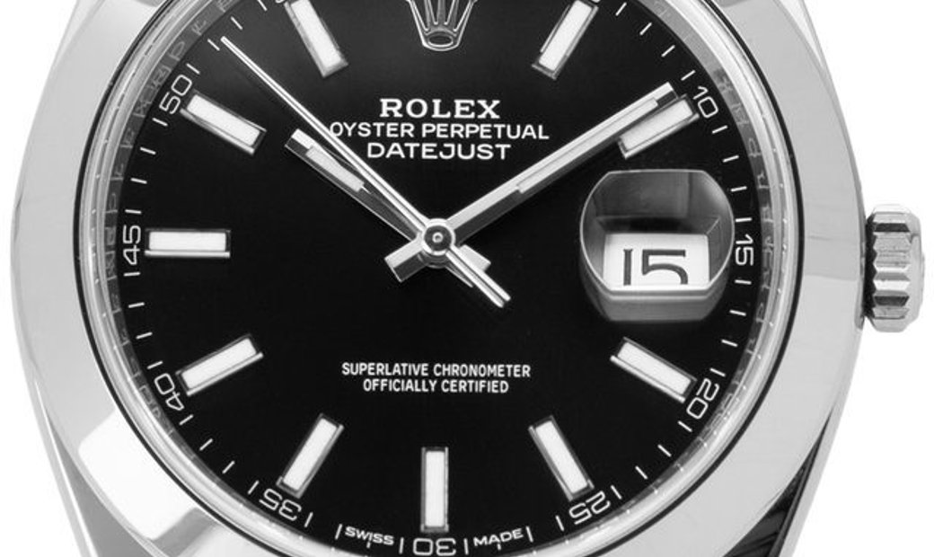 Rolex Datejust 126300, Baton, 2018, Very Good, Case material Steel, Bracelet material: