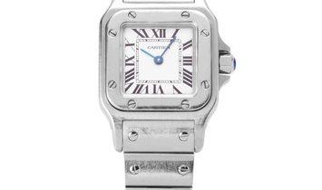 Cartier Santos W20056D6 1565, Roman Numerals, 2008, Good, Case material Steel, Bracelet