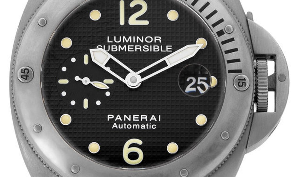 Panerai Luminor Submersible PAM00025, Baton, 2007, Good, Case material Titanium, Bracel