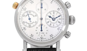 Chronoswiss Chronograph Rattrapante CH7323, Arabic Numerals, 1997, Very Good, Case mate