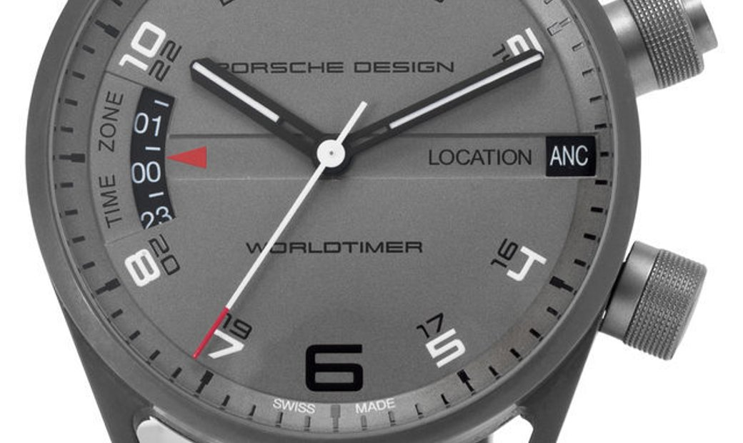 Porsche Design Worldtimer   6750.10, Arabic Numerals, 2017, Good, Case material Titaniu