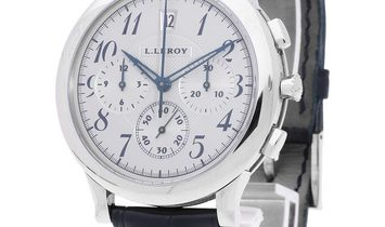 L.Leroy Osmior Automatic Chronograph , Arabic Numerals, 2014, Very Good, Case material