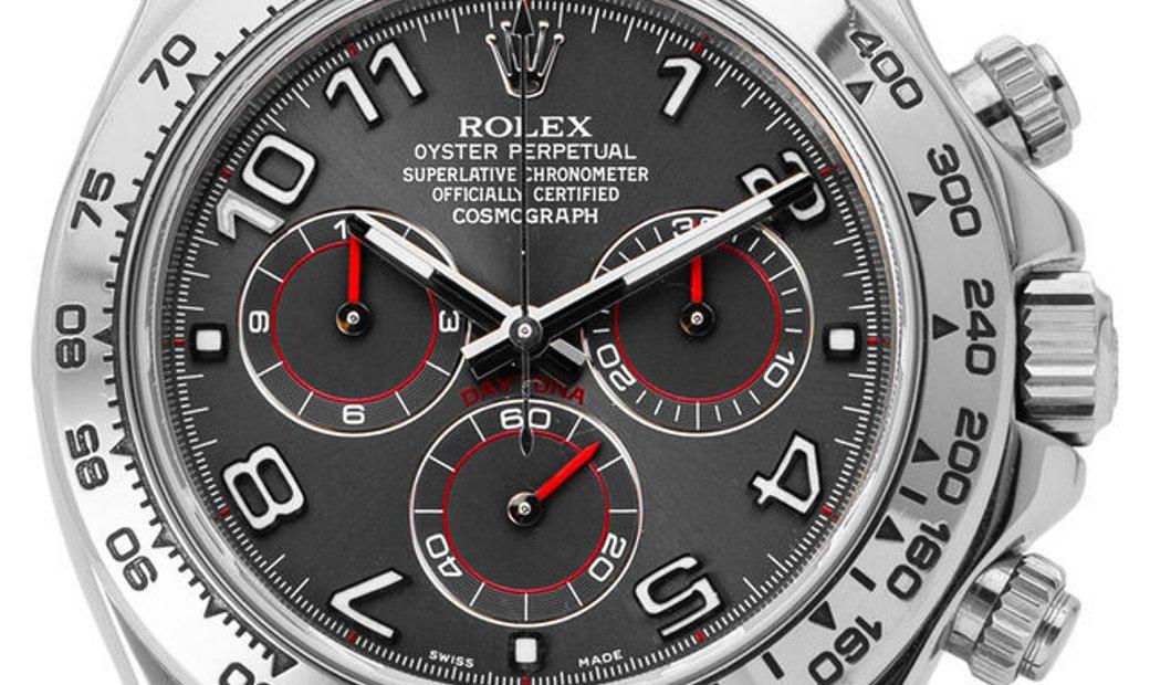 Rolex Daytona 116509, Arabic Numerals, 2008, Very Good, Case material White Gold, Brace
