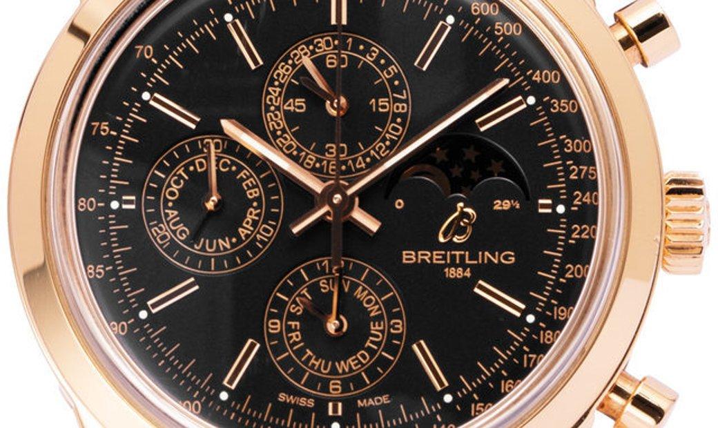 Breitling Transocean R1931012.BC20, Baton, 2017, Good, Case material Rose Gold, Bracele