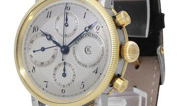 Chronoswiss Chronometer CH7522CD, Arabic Numerals, 1992, Good, Case material Steel, Bra