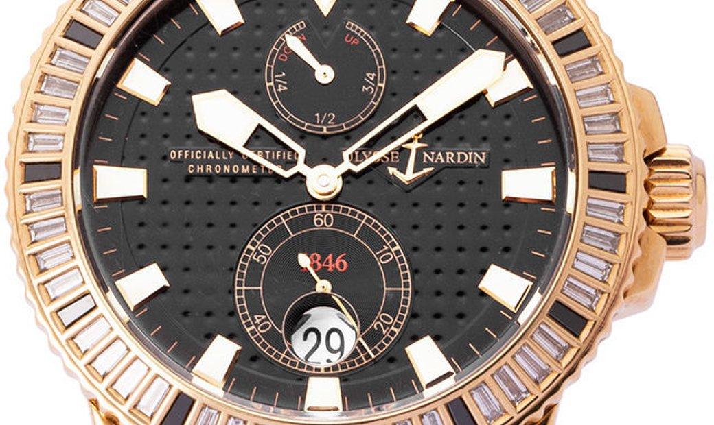 Ulysse Nardin Marine Diver 266-34-8/92, Baton, 2009, Very Good, Case material Rose Gold