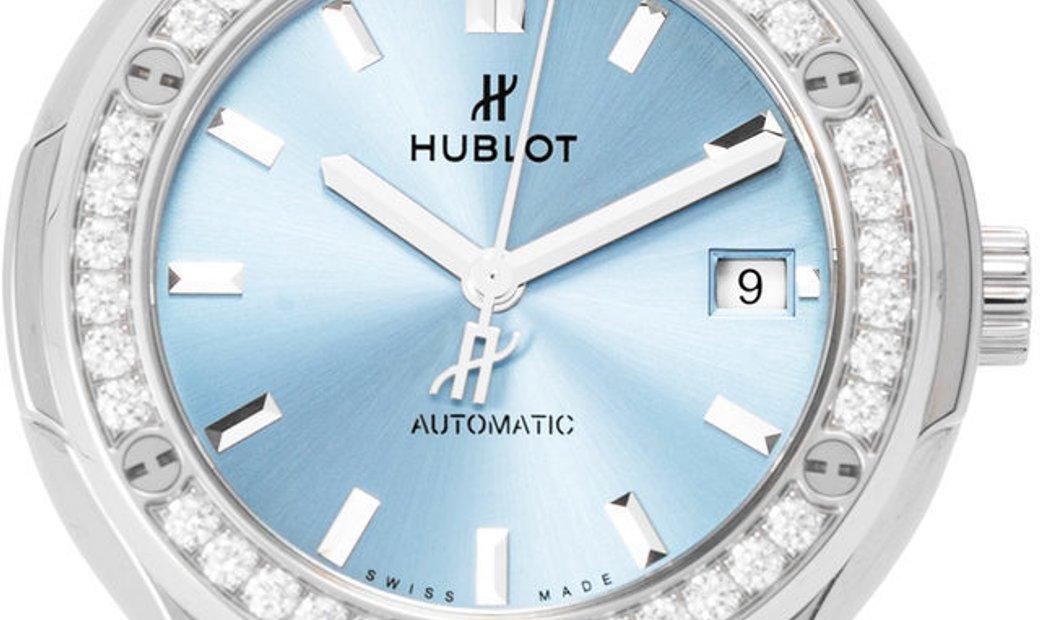 Hublot Classic Fusion 568.NX.891L.NX.1204, Baton, 2019, Very Good, Case material Titani
