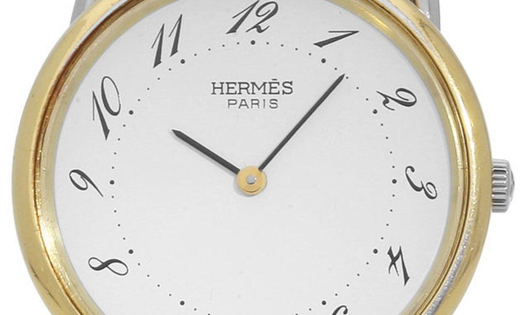 Hermes Arceau  A92464, Arabic Numerals, 1992, Used, Case material Steel, Bracelet mater