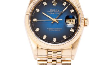 Rolex Datejust 16238, Baton, 1990, Used, Case material Yellow Gold, Bracelet material: