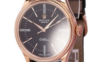 Rolex Cellini 50505, Baton, 2015, Very Good, Case material Rose Gold, Bracelet material
