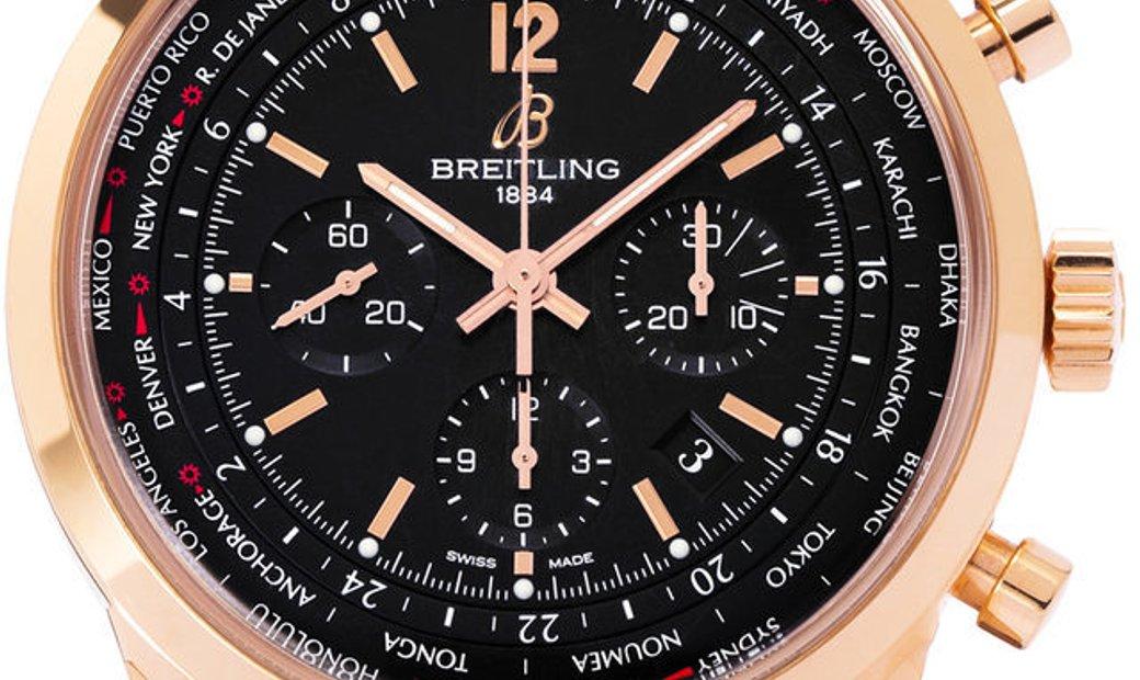 Breitling Transocean Unitime Pilot RB0510U5.BC39.439X.R20BA.1, Baton, 2019, Very Good,