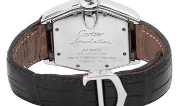 Cartier Roadster 2510 , Roman Numerals, 2011, Good, Case material Steel, Bracelet mater