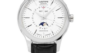 Wempe Zeitmeister Klassik Mondphase WM350001, Baton, 2015, Very Good, Case material Ste