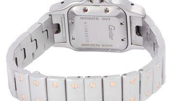 Cartier Santos W20045C4 2423, Roman Numerals, 2000, Very Good, Case material Steel, Bra