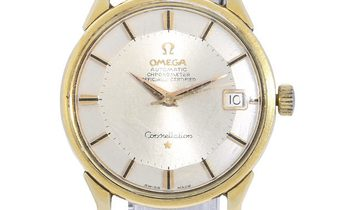Omega Constellation 168.005, Baton, 1974, Used, Case material Gold Plated, Bracelet mat