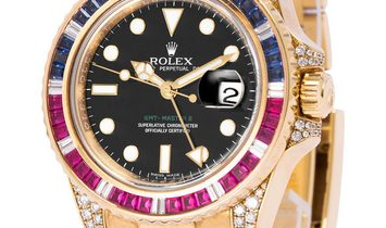 Rolex GMT-Master II 116758SARU, Baton, 2008, Very Good, Case material Yellow Gold, Brac