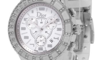 Dior Christal Ladies  CD114311, Arabic Numerals, 2008, Good, Case material Steel, Brace