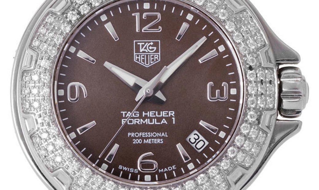 TAG Heuer Formula 1 WAC1217.FC6221, Arabic Numerals, 2008, Good, Case material Steel, B