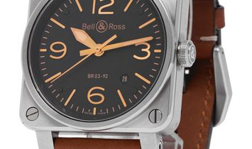Bell and Ross BR03-92 BR0392-ST-G-HE/SCA/2, Baton, 2019, Very Good, Case material Steel