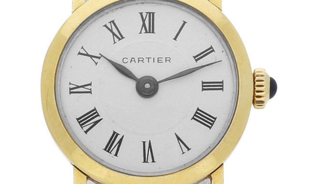 Cartier Vintage Manual, Roman Numerals, 1982, Good, Case material Yellow Gold, Bracelet