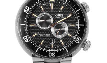 Oris TT1 Divers 649 7610 71 64, Baton, 2011, Good, Case material Titanium, Bracelet mat