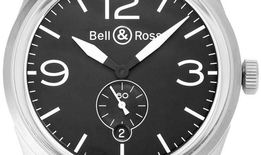 Bell and Ross BR 123 BRV123-BL-ST/SCA , Arabic Numerals, 2020, Very Good, Case material