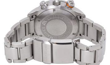 Maurice Lacroix Pontos S Chronograph PT6008-SS002-332, Baton, 2013, Very Good, Case mat