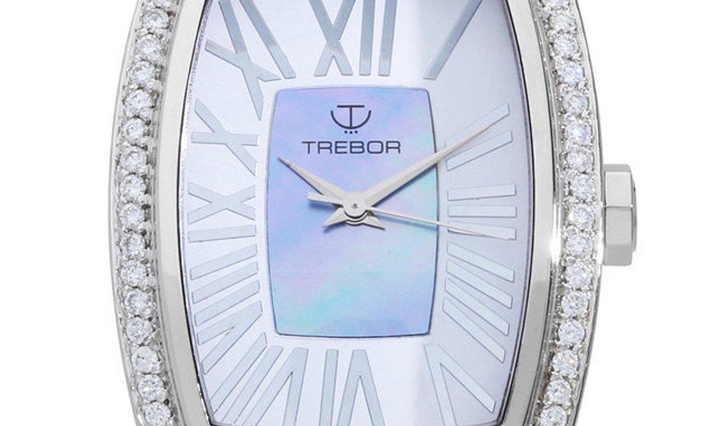 Trebor Mondera  Quartz, Roman Numerals, 2010, Very Good, Case material Steel, Bracelet
