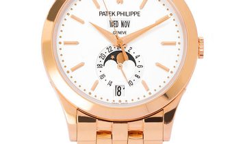Patek Philippe Annual Calendar Moonphases 5396/1R-010, Baton, 2014, Very Good, Case mat