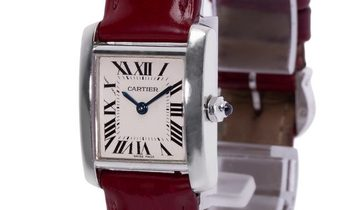 Cartier Tank Francaise W5001256 2403, Roman Numerals, 2002, Very Good, Case material Wh