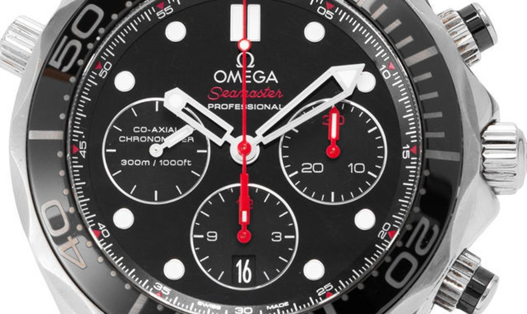 Omega Seamaster Diver 300 M Chronograph 212.30.44.50.01.001, Baton, 2015, Good, Case ma