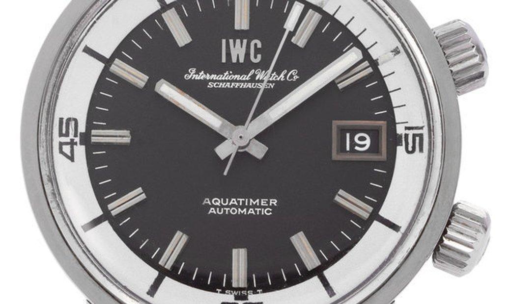 IWC Aquatimer 812AD, Baton, 1970, Good, Case material Steel, Bracelet material: Leather