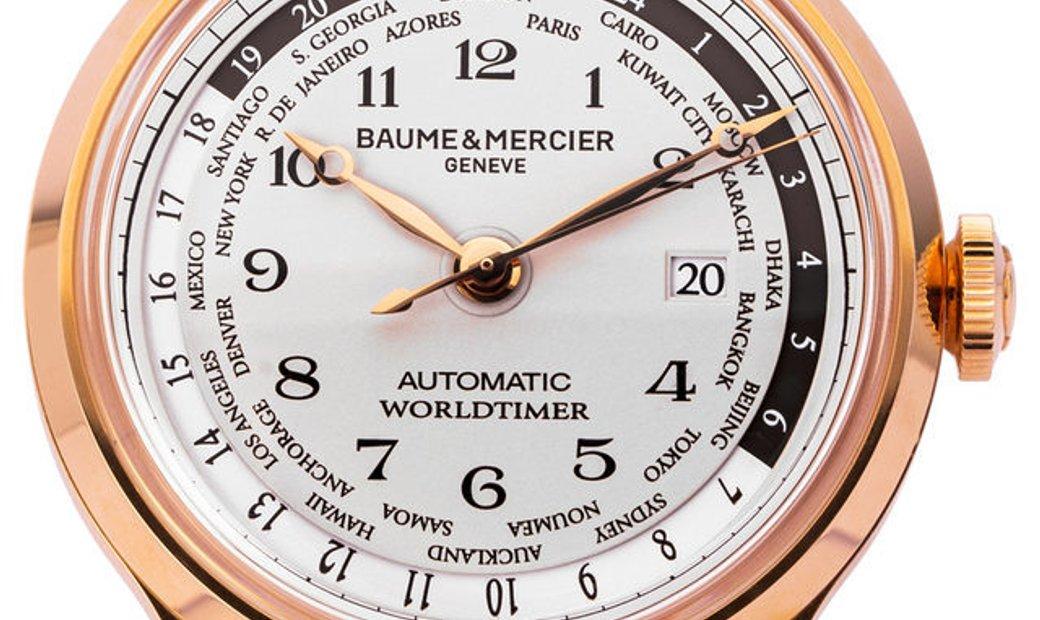 Baume et Mercier Capeland MOA10107, Arabic Numerals, 2017, Very Good, Case material Ros