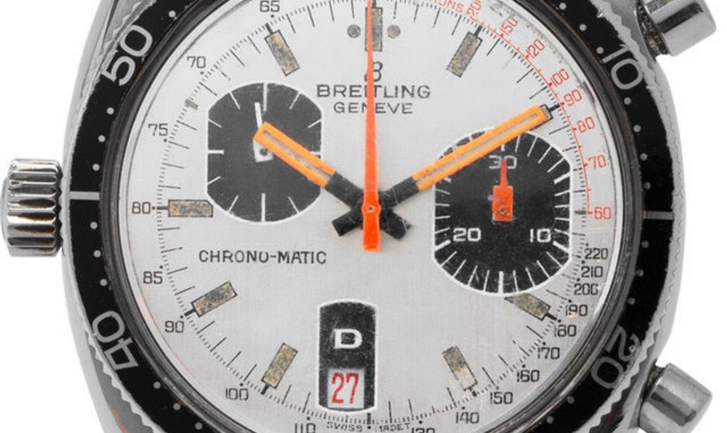 Breitling Chrono-Matic 2112-15, Baton, 1975, Used, Case material Steel, Bracelet materi