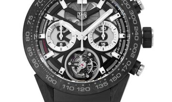 TAG Heuer Carrera 02T Tourbillon Chronograph  CAR5A8W.FT6071, Baton, 2018, Very Good, C