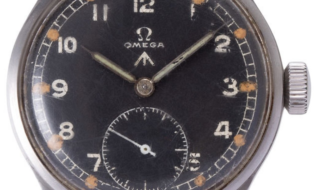 Omega WWW British Military Issue Dirty Dozen Cal. 30T2, Arabic Numerals, 1944, Used, Ca