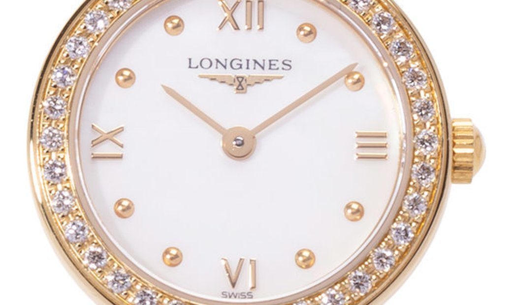 Longines Prestige Gold L4.228.7.85.6, Roman Numerals, 2008, Very Good, Case material Ye