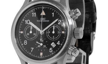 IWC Pilots Chronograph IW3741001, Arabic Numerals, 2001, Good, Case material Steel, Bra
