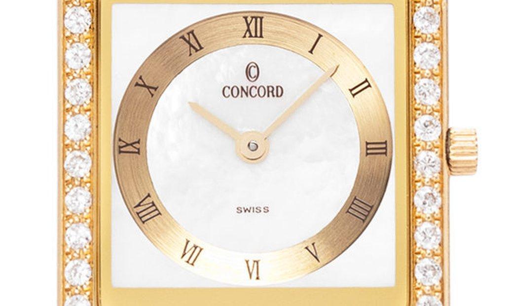 Concord Delirium 51.90.668 G, Roman Numerals, 1998, Very Good, Case material Yellow Gol