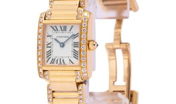 Cartier Tank Francaise WE1001RG, Roman Numerals, 2000, Good, Case material Yellow Gold,