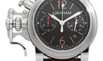 Graham Chronofighter R.A.C 2CRBS.B10A, Arabic Numerals, 2015, Very Good, Case material