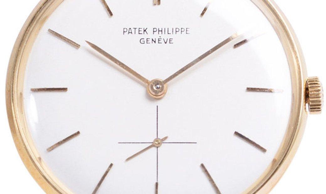 Patek Philippe Calatrava 2573, Baton, 1960, Very Good, Case material Yellow Gold, Brace