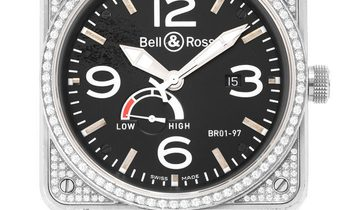 Bell and Ross BR01-97 BR 01-97-S, Baton, 2017, Used, Case material Steel, Bracelet mate