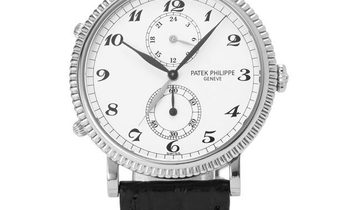 Patek Philippe Travel Time 5034G-001, Arabic Numerals, 2002, Very Good, Case material W