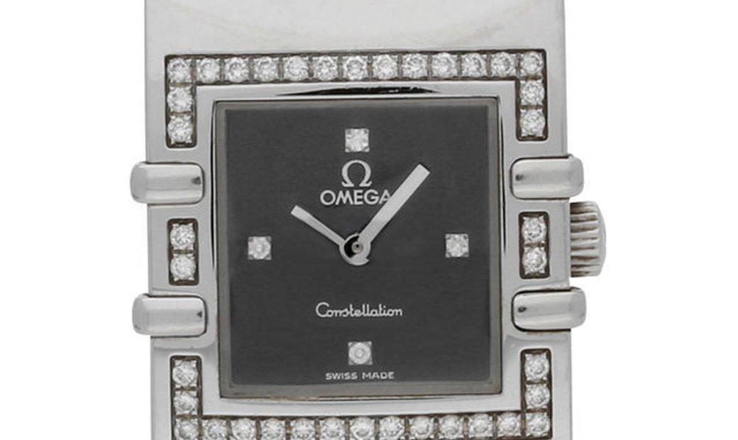 Omega Constellation Quadra 1835.46.51, Diamonds, 2002, Very Good, Case material Steel,
