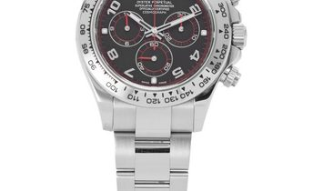 Rolex Daytona 116509, Arabic Numerals, 2014, Very Good, Case material White Gold, Brace