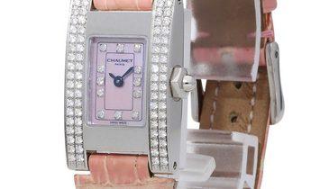 Chaumet Lady  W0121A-053, Diamonds, 2001, Good, Case material Steel, Bracelet material: