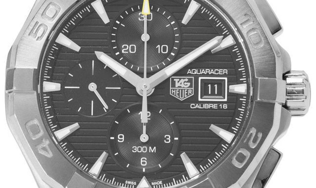 TAG Heuer Aquaracer Chronograph CAY2110.BA0927, Baton, 2018, Very Good, Case material S