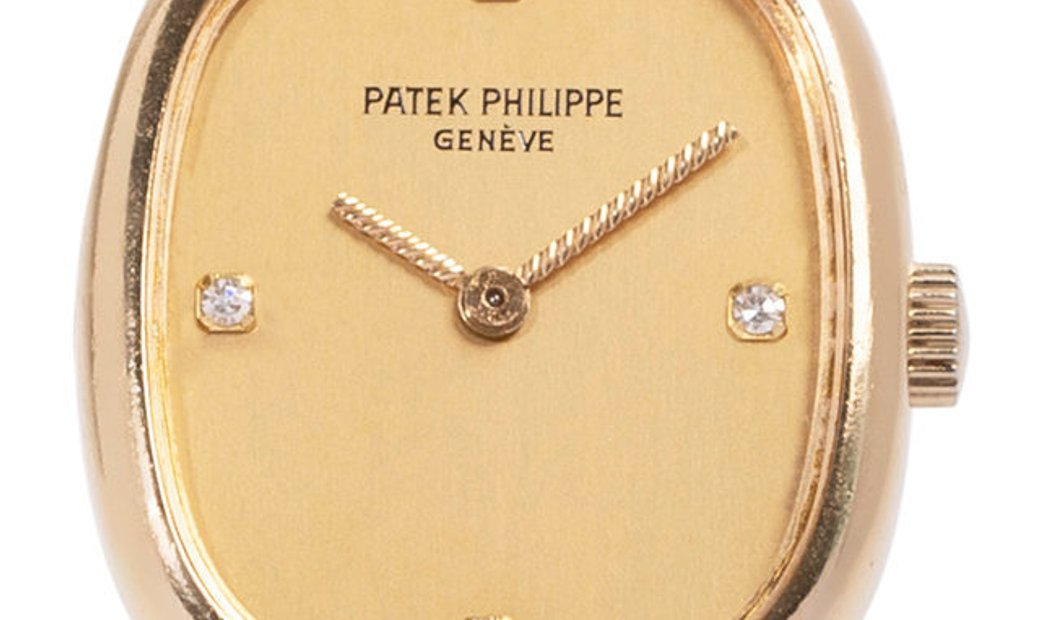 Patek Philippe Ellipse d'Or 4464/4, Diamonds, 1995, Very Good, Case material Yellow Gol